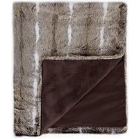 Product photograph showing Cascade Home Sable Faux Fur Throw