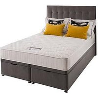 Product photograph showing Silentnight Mila Velvet 1000 Memory Ottoman Storage Bed With Headboard