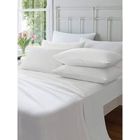 Product photograph showing Catherine Lansfield Soft N Cosy Brushed Cotton Extra Deep Double Fitted Sheet Ndash White