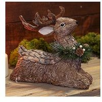 Product photograph showing Sitting Reindeer Ornament