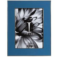Product photograph showing Die-cast Blue Photo Frame - 5 X 7