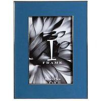Product photograph showing Die-cast Blue Photo Frame - 4 X 6