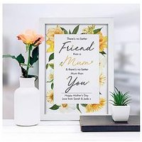 Product photograph showing No Better Friend Than A Mum A4 Framed Print