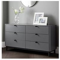 Product photograph showing Julian Bowen Chloe 6 Drawer Wide Chest