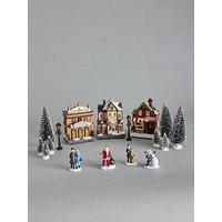 Product photograph showing Festive 17 Piece Led Christmas Scene