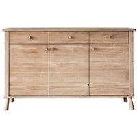 Product photograph showing Hudson Living Wycombe Solid Oak Sideboard