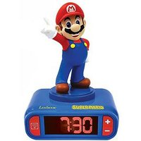 Product photograph showing Lexibook Super Mario Alarm Clock With Sounds