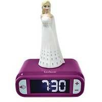 Product photograph showing Lexibook Elsa Night Light Alarm Clock
