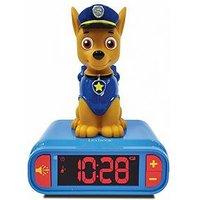 Product photograph showing Lexibook Paw Patrol Night Light Alarm Clock