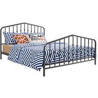 Product photograph showing Bushwick Metal Bed Frame - Grey