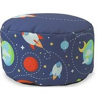 Product photograph showing Rucomfy Outer Space Footstool