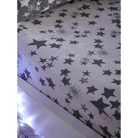 Product photograph showing Silentnight Stars Brushed Cotton Fitted Sheet