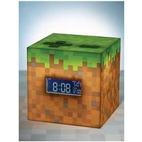 Product photograph showing Minecraft Alarm Clock