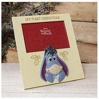 Product photograph showing Disney Baby S First Christmas Photo Frame - Eeyore