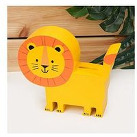 Product photograph showing Jungle Baby London The Lion Wooden Money Box