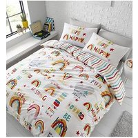 Product photograph showing Catherine Lansfield Be A Rainbow Duvet Cover Set