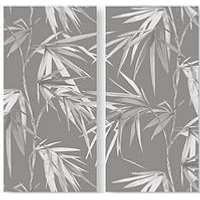 Product photograph showing Graham Brown Set Of 2 Bamboo Blooms Printed Canvas
