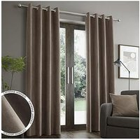 Product photograph showing Catherine Lansfield Faux Suede Eyelet Curtains