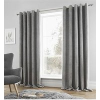 Product photograph showing Catherine Lansfield Sherpa Eyelet Curtains
