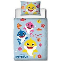 Product photograph showing Baby Shark Fishes Junior Duvet Cover Set
