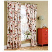 Product photograph showing Cath Kidston Garden Rose Pleated Curtains