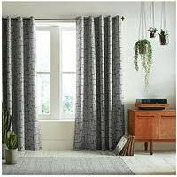 Product photograph showing Missprint Little Trees Smoke 90x54 Eyelet Curtains