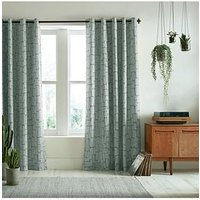 Product photograph showing Missprint Little Trees Seagrass 46x54 Eyelet Curtains