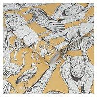 Product photograph showing Superfresco Easy Jungle Animals Jaune Wallpaper