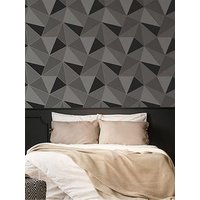 Product photograph showing Fresco Apex Geo Charcoal Wallpaper