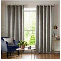 Product photograph showing Ashley Wilde Elstree Smoke Eyelet Curtains