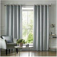 Product photograph showing Ashley Wilde Elstree Ice Blue Eyelet Curtains