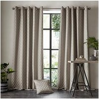 Product photograph showing Ashley Wilde Aldbury Pewter Eyelet Curtains