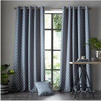 Product photograph showing Ashley Wilde Aldbury Danube Eyelet Curtains