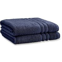 Product photograph showing Catherine Lansfield Zero Twist Bath Sheets - Navy
