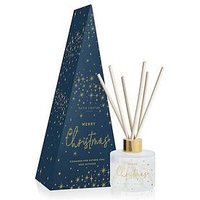 Product photograph showing Katie Loxton Festive Reed Diffuser Merry Christmas Cinnamon And Nutmeg Chai 100ml