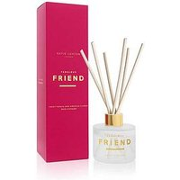 Product photograph showing Katie Loxton Sentiment Reed Diffuser Fabulous Friend Sweet Papaya And Hibiscus Flower 100ml