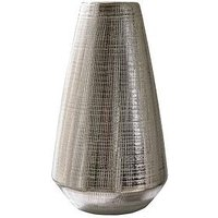 Product photograph showing Blaire Silver Plated Scratch Detail Vase