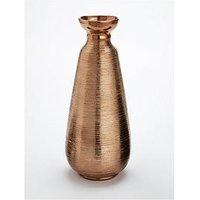 Product photograph showing Large Copper Scratch Vase