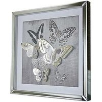 Product photograph showing Arthouse 3d Butterfly Mirrored Framed Print