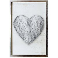 Product photograph showing Arthouse String Heart Framed Print