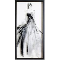 Product photograph showing Arthouse Lady Premium Framed Print With Glitter Highlights