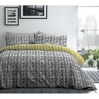 Product photograph showing Fusion Carson Duvet Set - Sb