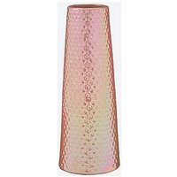 Product photograph showing Irridescent Hammered Effect Ceramic Vase