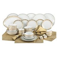 Product photograph showing Waterside 50-piece Gold Sparkle Dinner Set