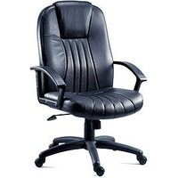 Product photograph showing Teknik Office Preston Leather Office Chair - Black