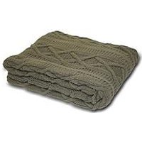 Product photograph showing Aran Throw