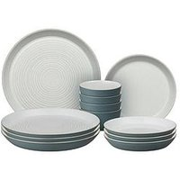 Product photograph showing Denby Impression Charcoal 12 Piece Dinnerware Set