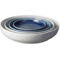 Product photograph showing Denby Studio Blue Nesting Bowl Set