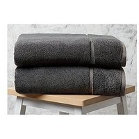 Product photograph showing Panda London Panda Bamboo Bath Sheet - Urban Grey