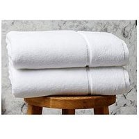 Product photograph showing Panda London Panda Bamboo Bath Sheet - White